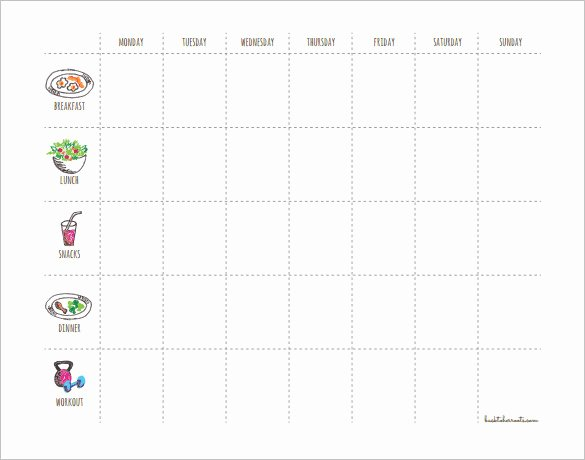 Work Out Schedule Templates Unique 29 Of Weekly Workout Schedule Template