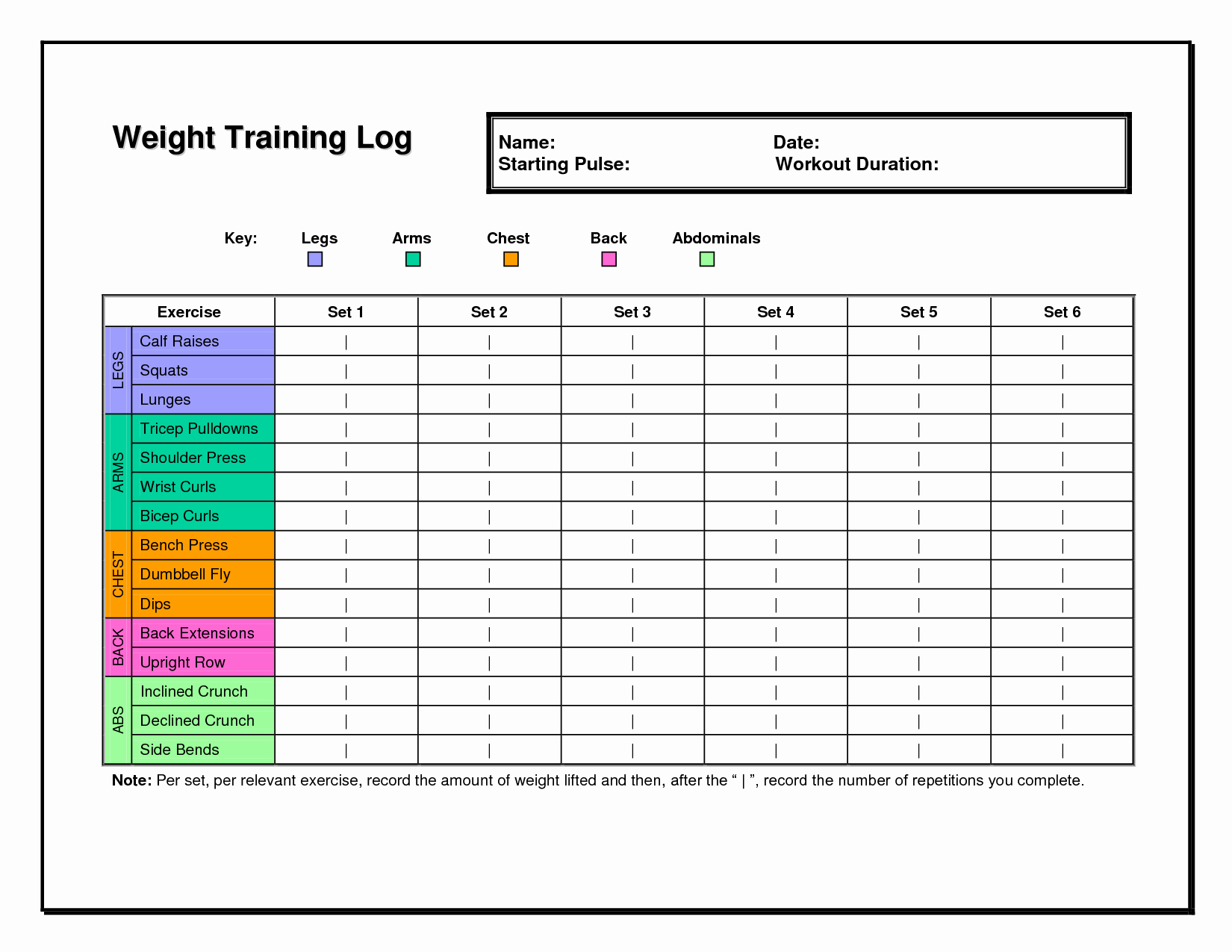 Work Out Schedule Templates Unique Workout Log Template Fitness & Health