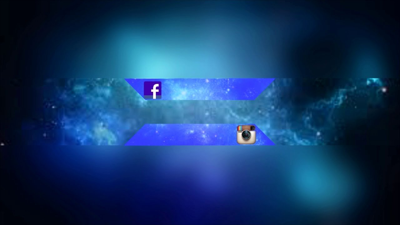 Youtube Banner Template No Text Fresh Free Channel Banner No Text Blue Space