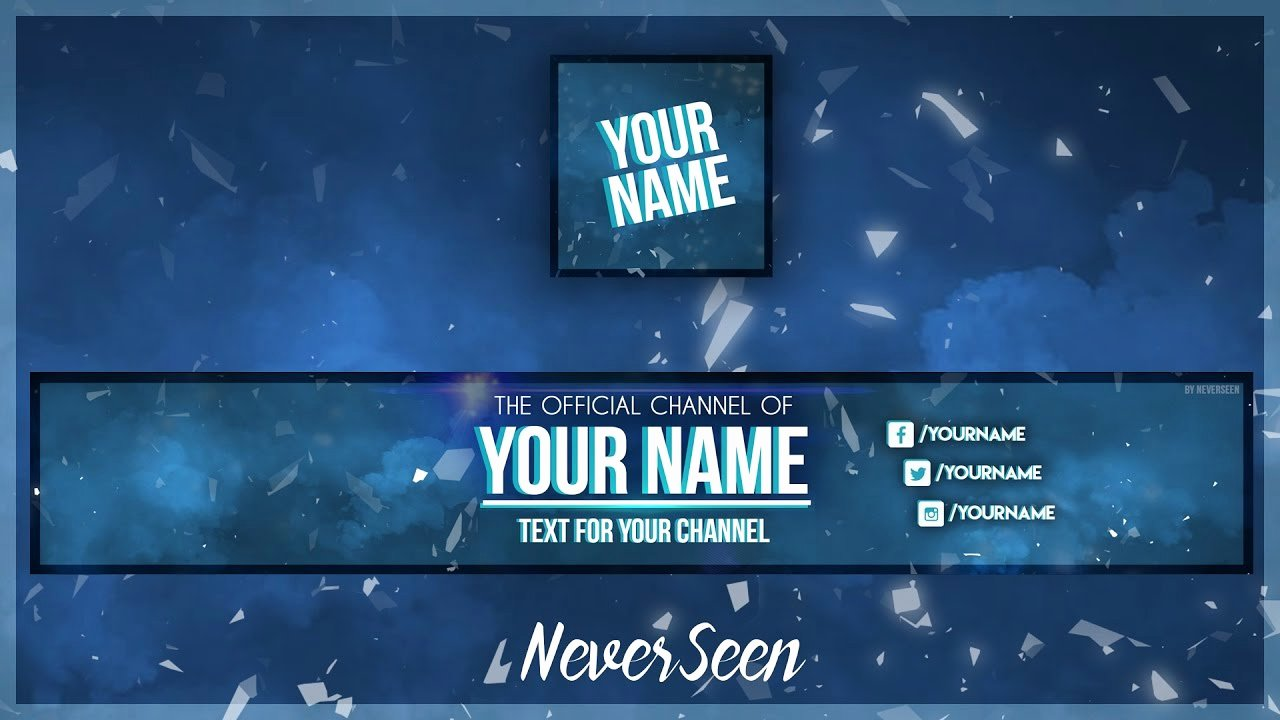 Youtube Banner Template Photoshop Awesome Free Banner Template Avatar Shop Psd