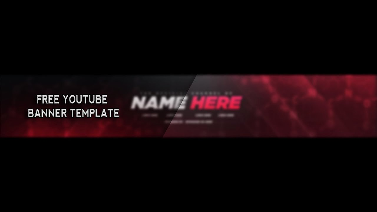 Youtube Banner Template Photoshop Awesome Free Youtube Banner Template Shop 2017