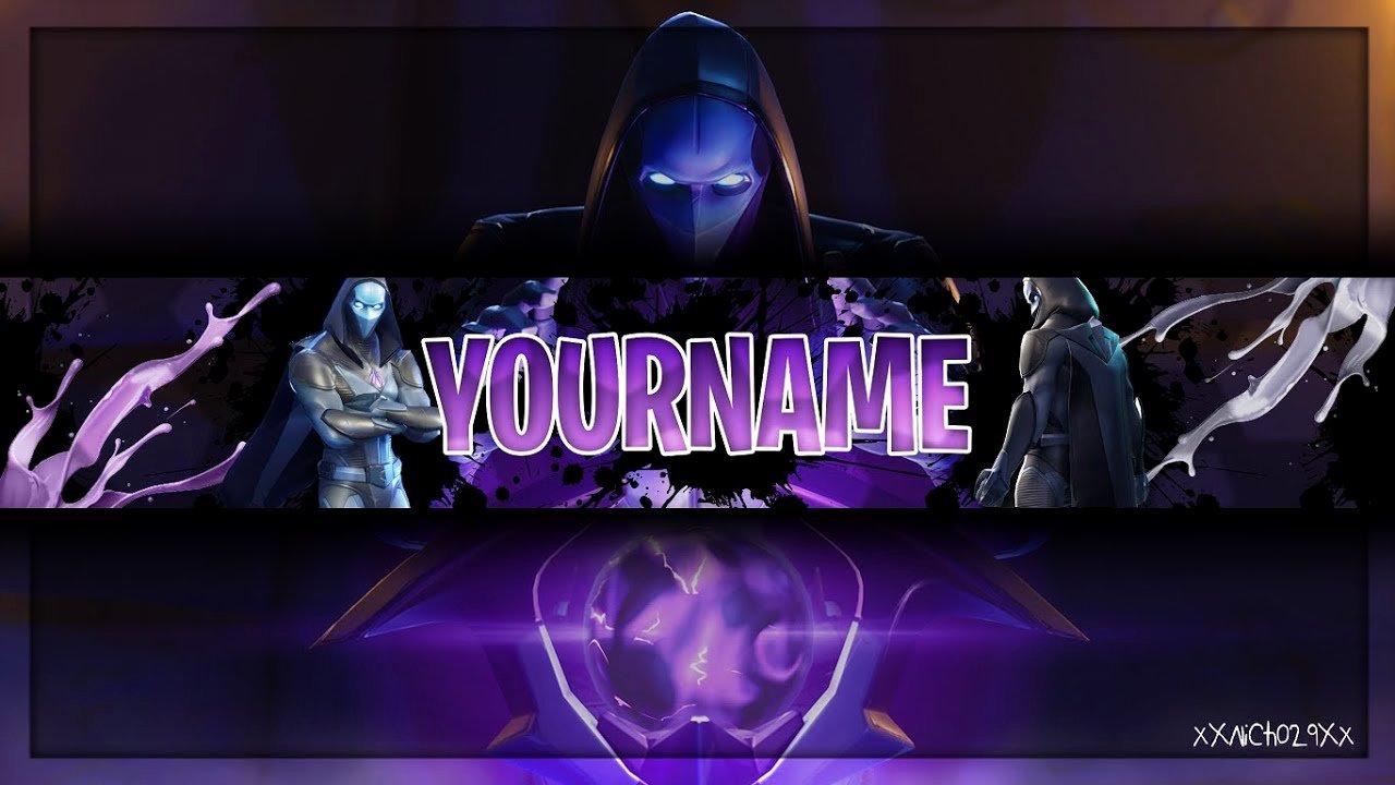 Youtube Banner Template Photoshop Beautiful fortnite Youtube Banner Template