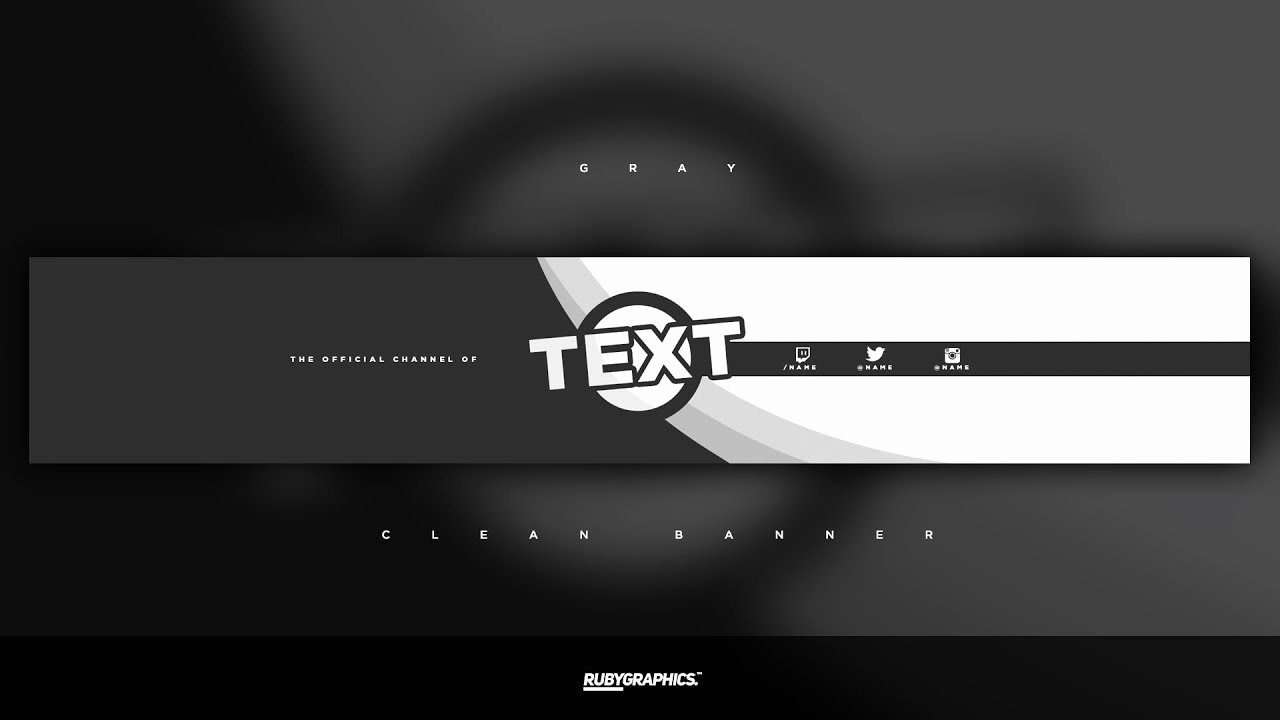 Youtube Banner Template Photoshop Beautiful Free Gfx Free Shop Banner Template Clean 2d Gray