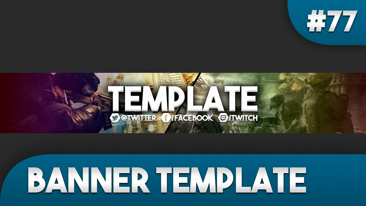 Youtube Banner Template Photoshop Best Of Gaming Banner Template 77 Free Shop