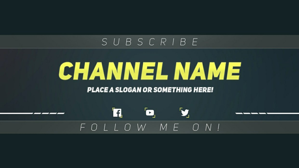 Youtube Banner Template Photoshop Fresh Premium Youtube Banner Template Shop Template