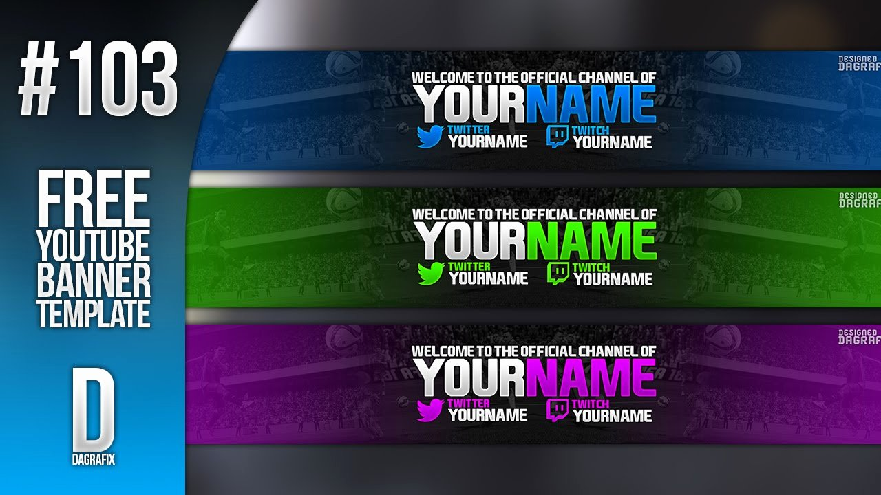 Youtube Banner Template Photoshop Lovely Fifa Banner Template 103 Free Shop Download