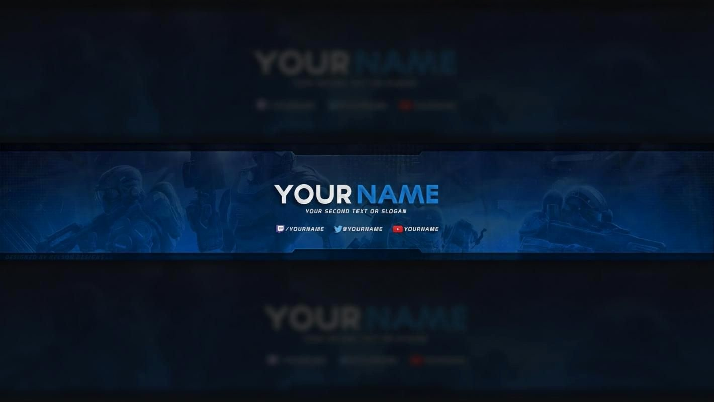Youtube Banner Template Photoshop Luxury Free Youtube Banner Template In 2019