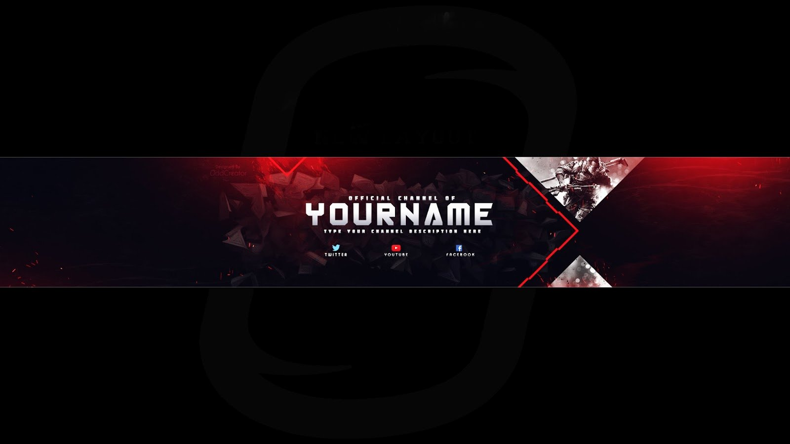 Youtube Banner Template Photoshop Unique top Gaming Banner Youtube Channel Art Shop Template