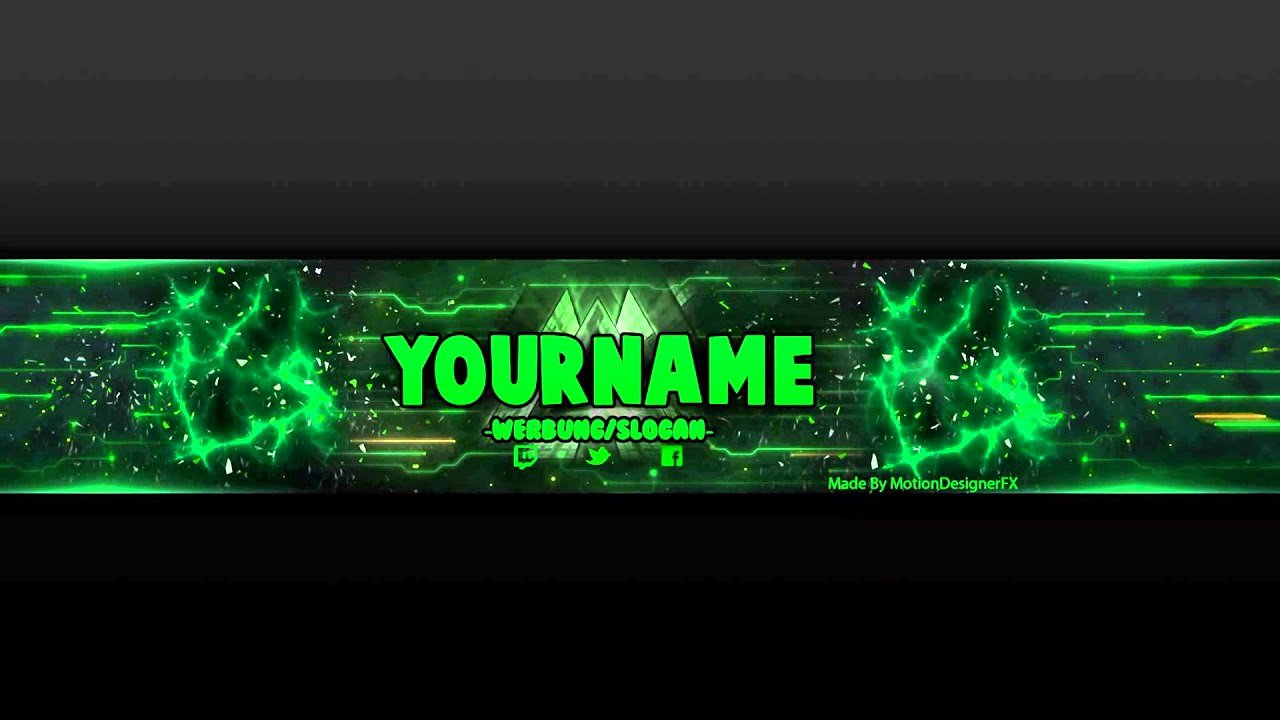 Youtube Banner Template Photoshop Unique Youtube Banner Template Green Psd Shop