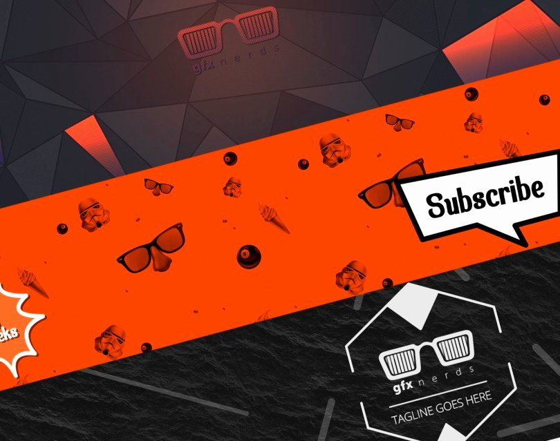 Youtube Banner Template Photoshop Unique Youtube Banner Template Psd Free Graphics