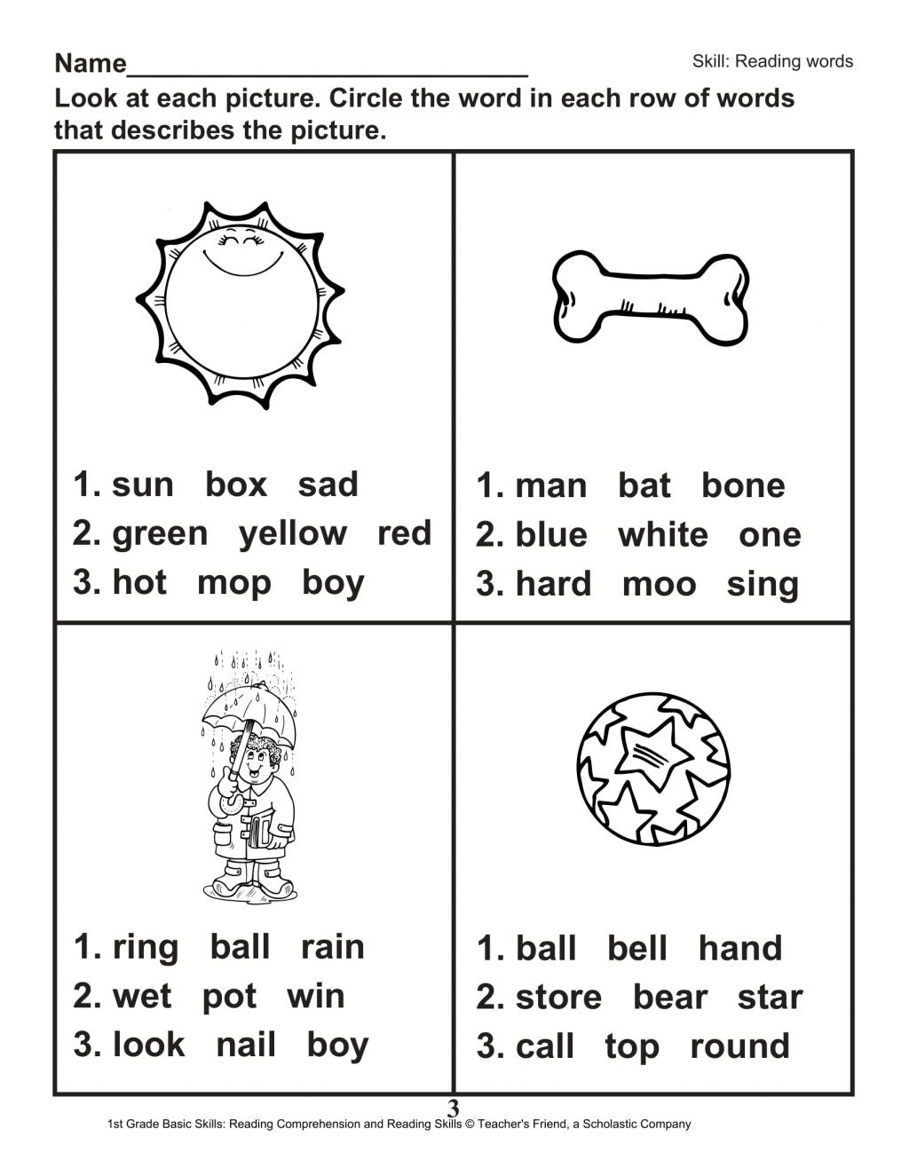 1st Grade Reading Worksheets Printable Worksheet Free First Grade Phonics Worksheets Scope and