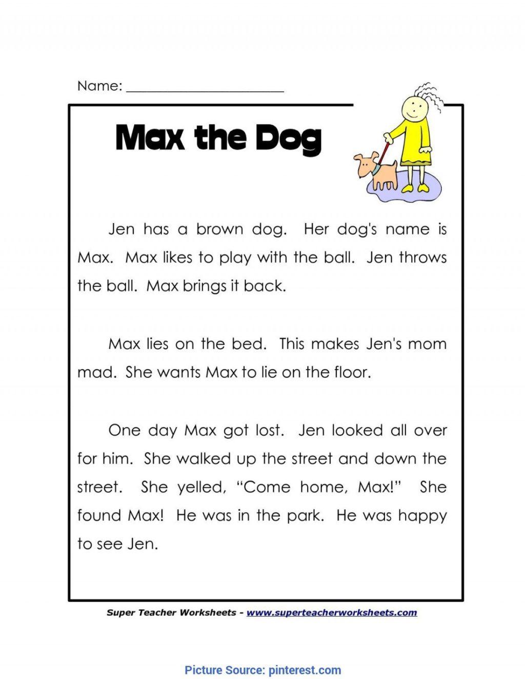 1st Grade Reading Worksheets Printable Worksheet Independent Reading Worksheets Printable and