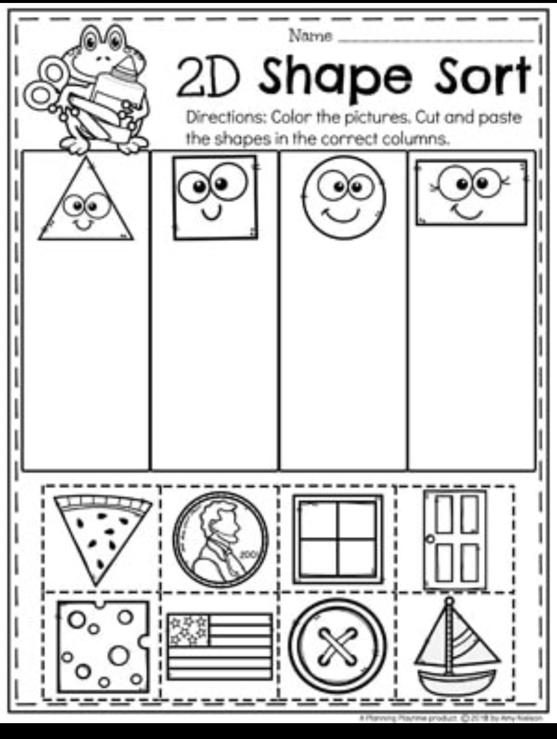 2d Shapes Worksheet Kindergarten Not In Worksheet form but A Good Idea
