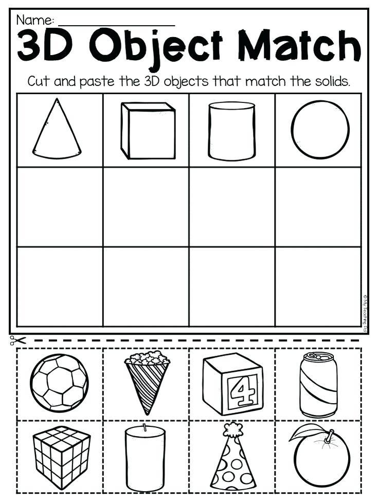 2d Shapes Worksheets Kindergarten 3d Shapes Kindergarten Kindergarten and Shapes Worksheets