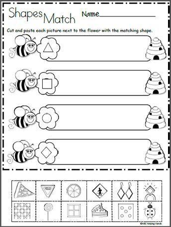 2d Shapes Worksheets Kindergarten Free 2d Shapes Math Worksheet for Kindergarten