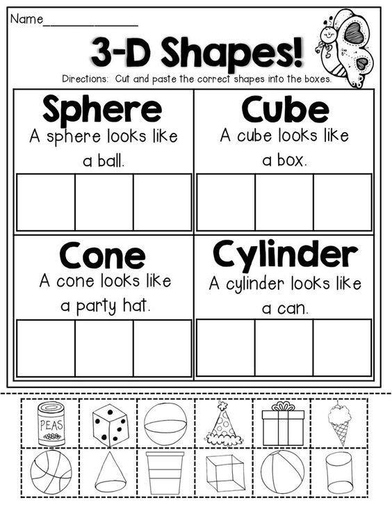2d Shapes Worksheets Kindergarten Spring Math and Literacy Packet Kindergarten