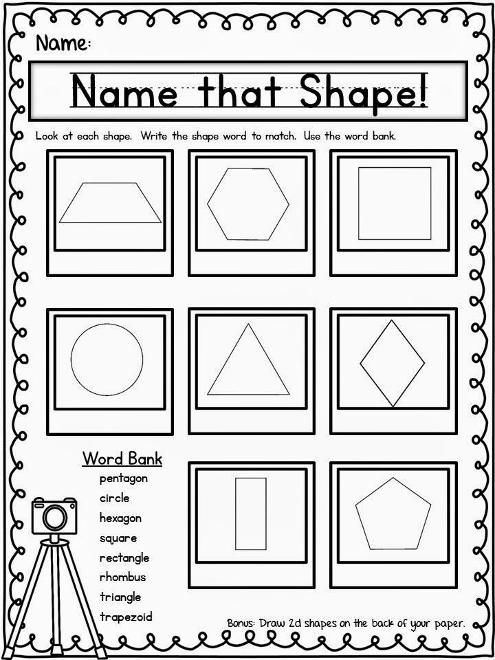 2d Shapes Worksheets Kindergarten Try It Out Thursday Freebie