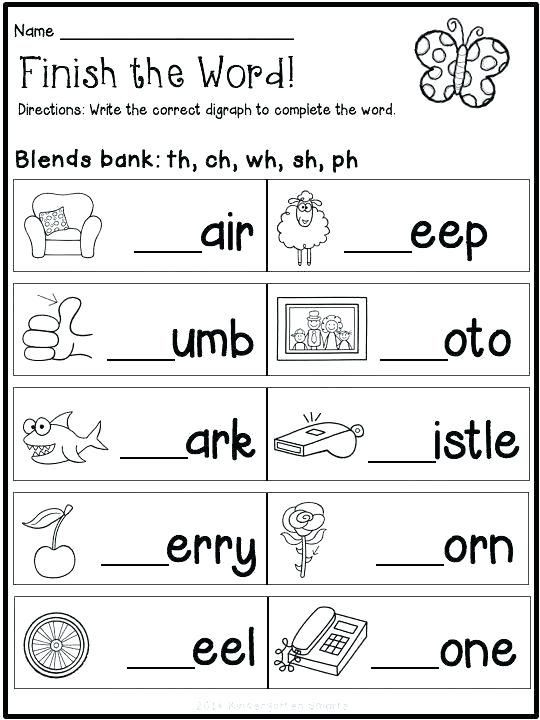 2nd Grade Consonant Blends Worksheets Reading Blends Worksheets for Kindergarten Free Pdf