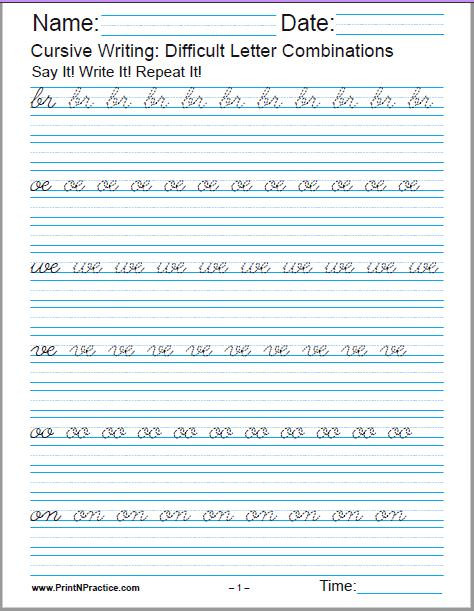 2nd Grade Handwriting Worksheets 50 Cursive Writing Worksheets ⭐ Alphabet Sentences Advanced