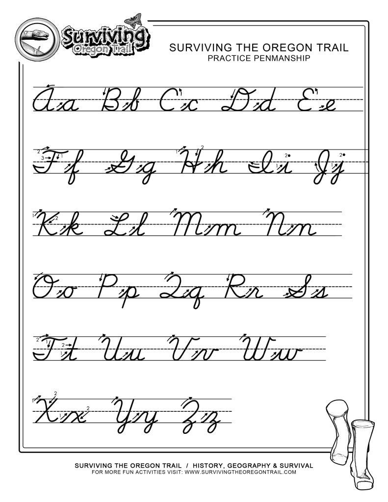 2nd Grade Handwriting Worksheets Practice Penmanship – Free Abc S Printable Cursive Writing