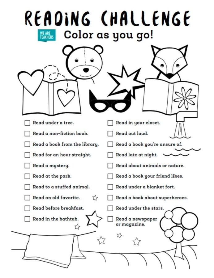 2nd Grade Math Challenge Worksheets Color as You Go Summer Reading Challenge 2nd Grade First