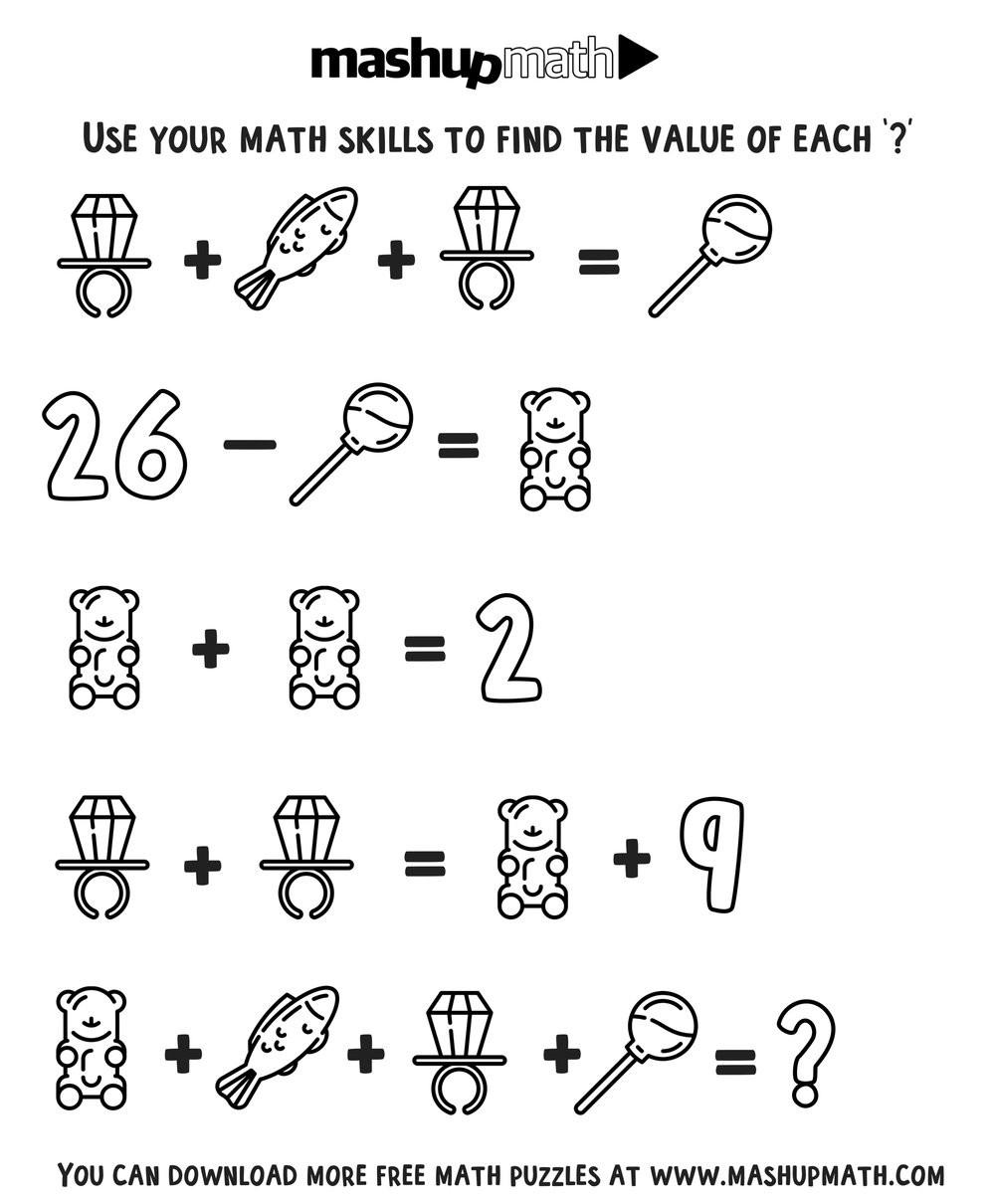 2nd Grade Math Challenge Worksheets Free Math Coloring Worksheets for Grades 1 8 — Mashup Math