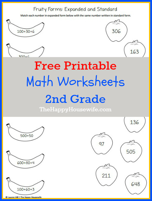 2nd Grade Math Challenge Worksheets Math Worksheets for 2nd Grade Free Printables the Happy