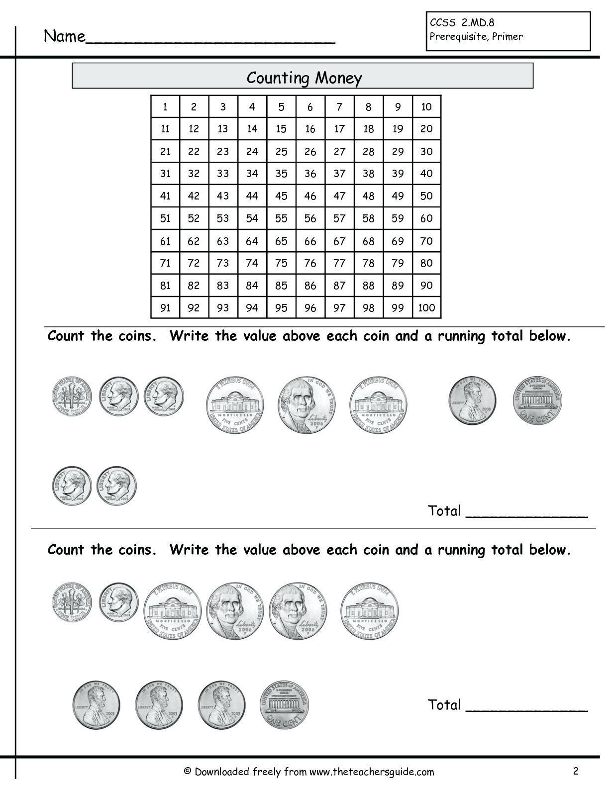 2nd Grade Math Worksheets Measurement 5 Free Math Worksheets Second Grade 2 Counting Money Money