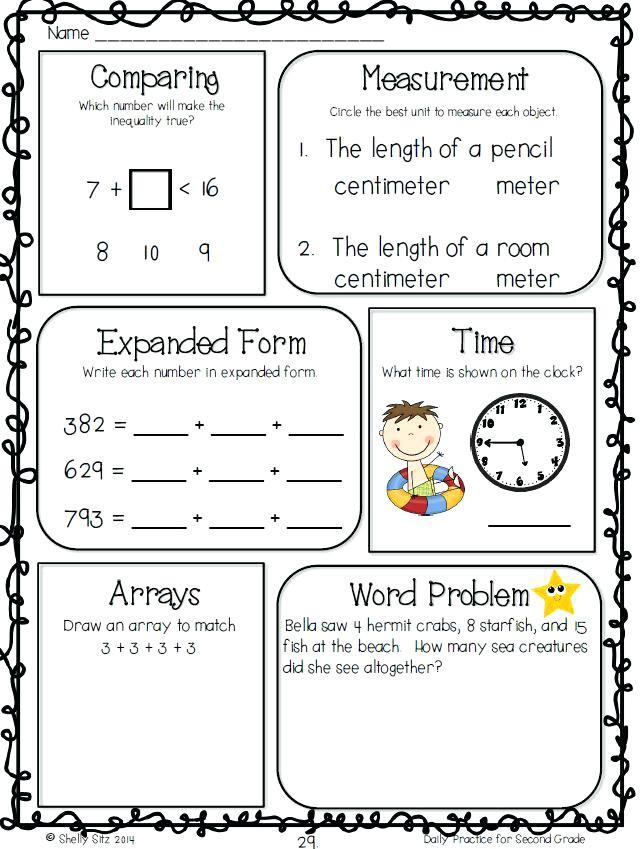 2nd Grade Math Worksheets Measurement Measurement Word Problems 2nd Grade Grade Money Word