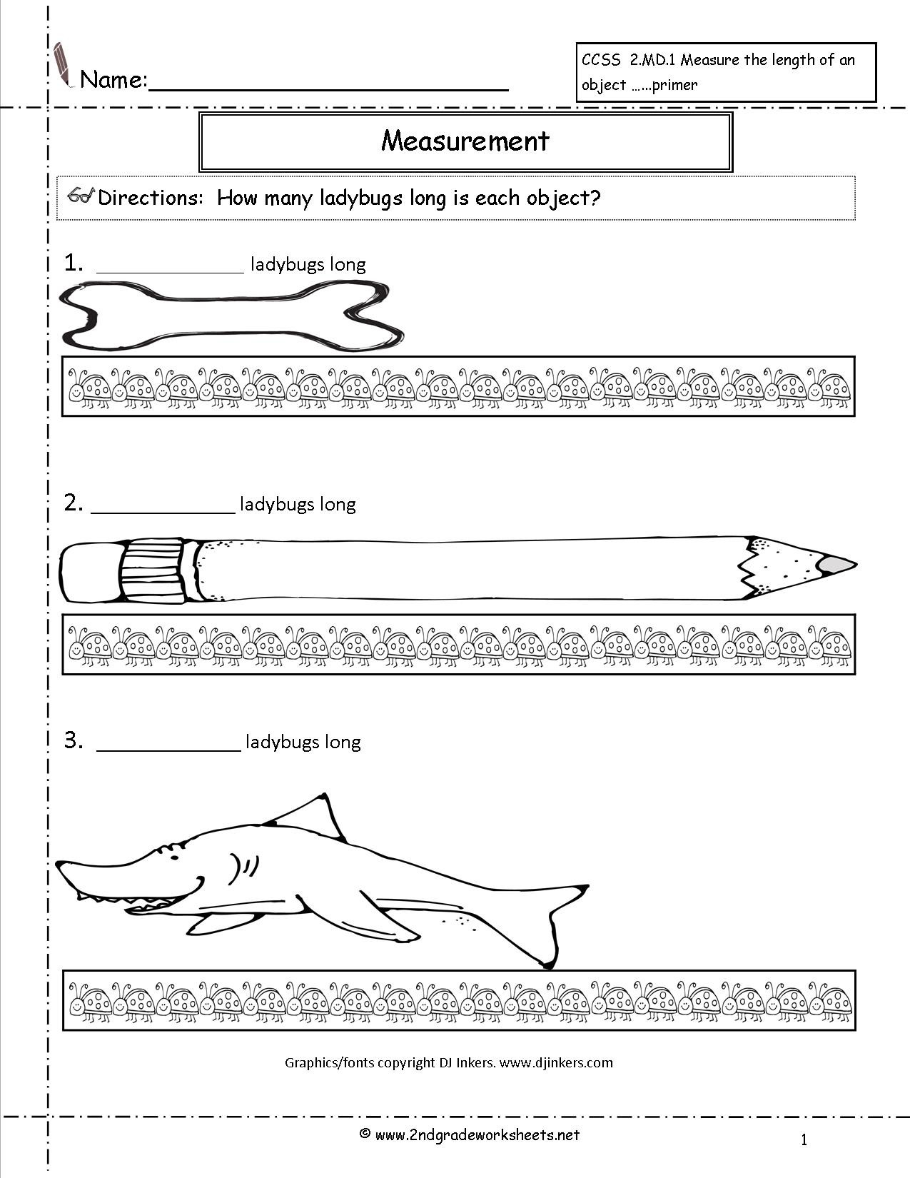 2nd Grade Measurement Worksheet Ccss 2 Md 1 Worksheets Measuring Worksheets