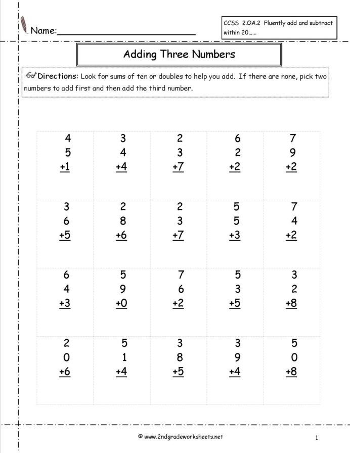2nd Grade Minute Math Worksheets Free Math Worksheets and Printouts Second Grade