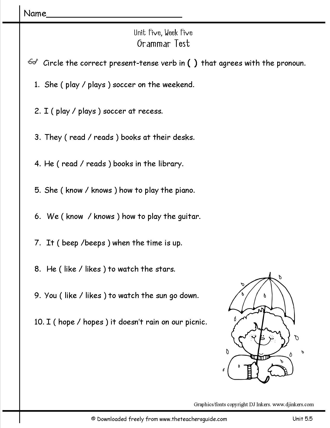 2nd Grade Pronoun Worksheets Free Pronoun Worksheet for 2nd Grade