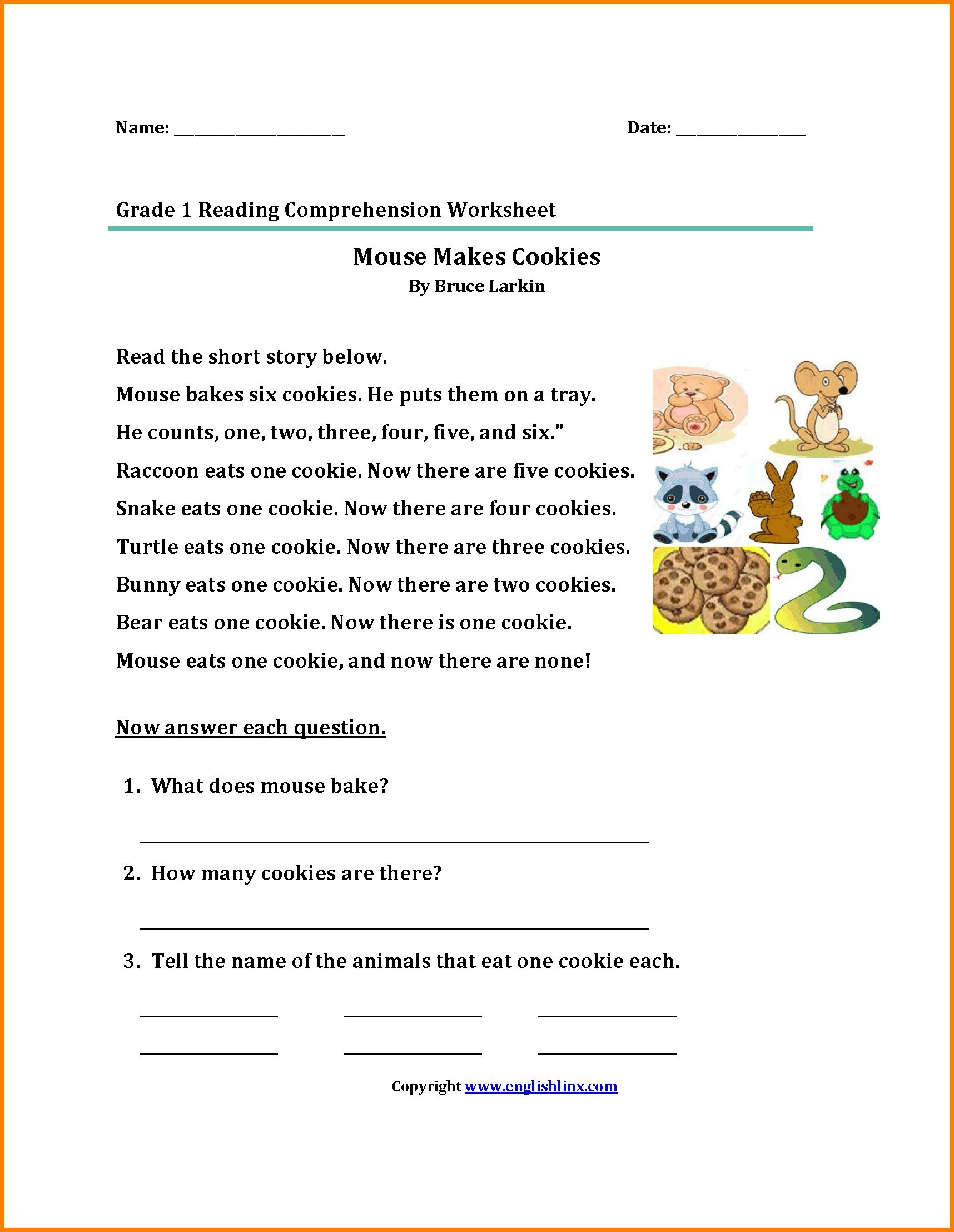 2nd Grade Reading Worksheets Printable Math Worksheet Printable 2nd Grade Reading Prehension