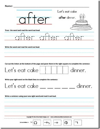 2nd Grade Sight Word Worksheets First Grade Sight Word Sentences Confessions Of A Homeschooler