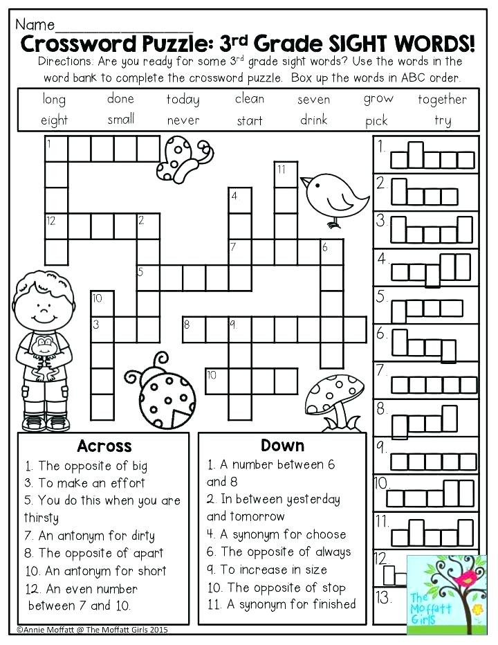 2nd Grade Sight Word Worksheets Sight Words for 3rd Grade Second Grade Words Worksheets