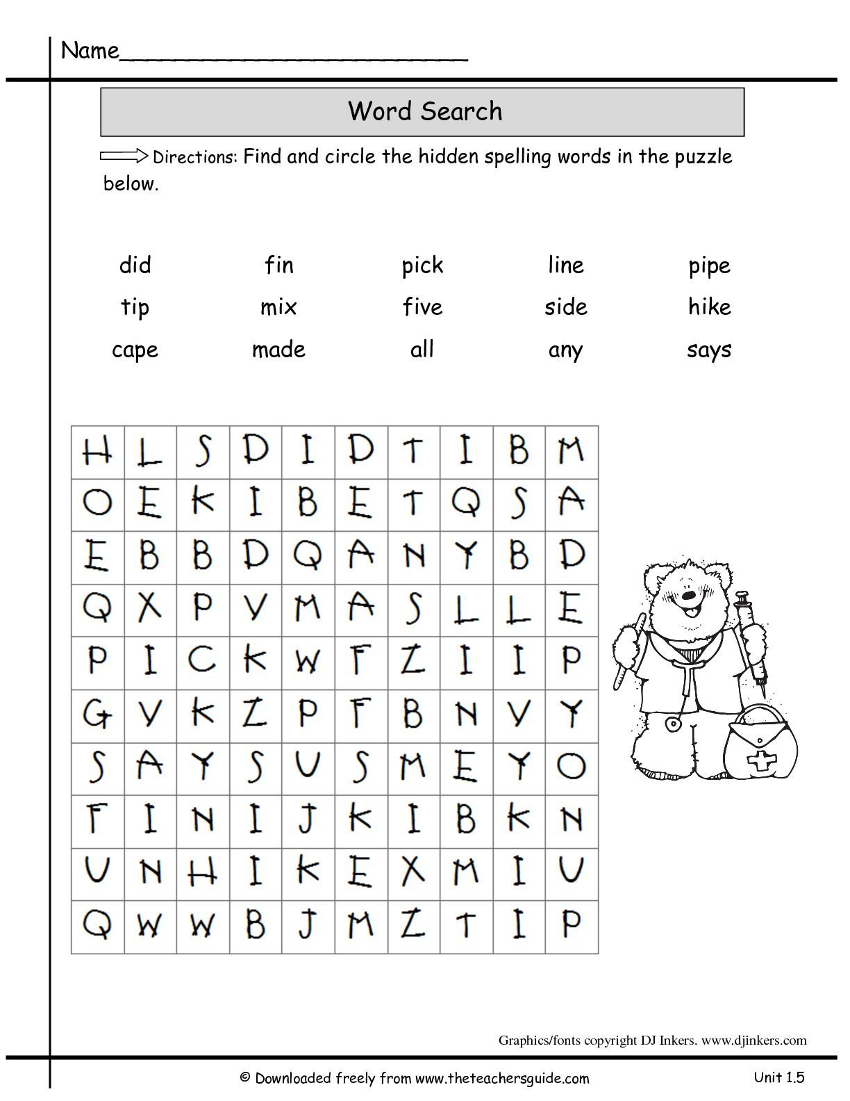 """2nd Grade Spelling Words Worksheets Spelling Words for 2nd Grade Printable لم يسبق له Ù…Ø ÙŠÙ"""" الصور"""