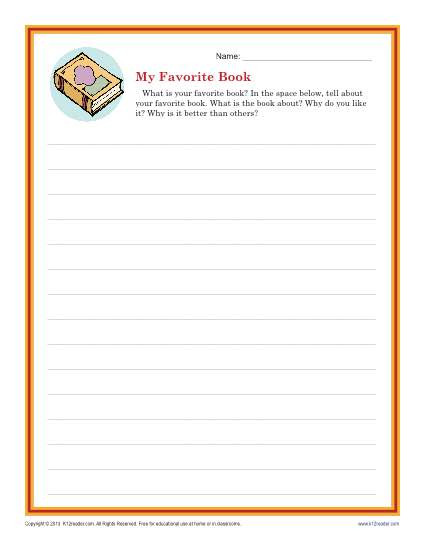 2nd Grade Writing Worksheets Descriptive Writing Prompt