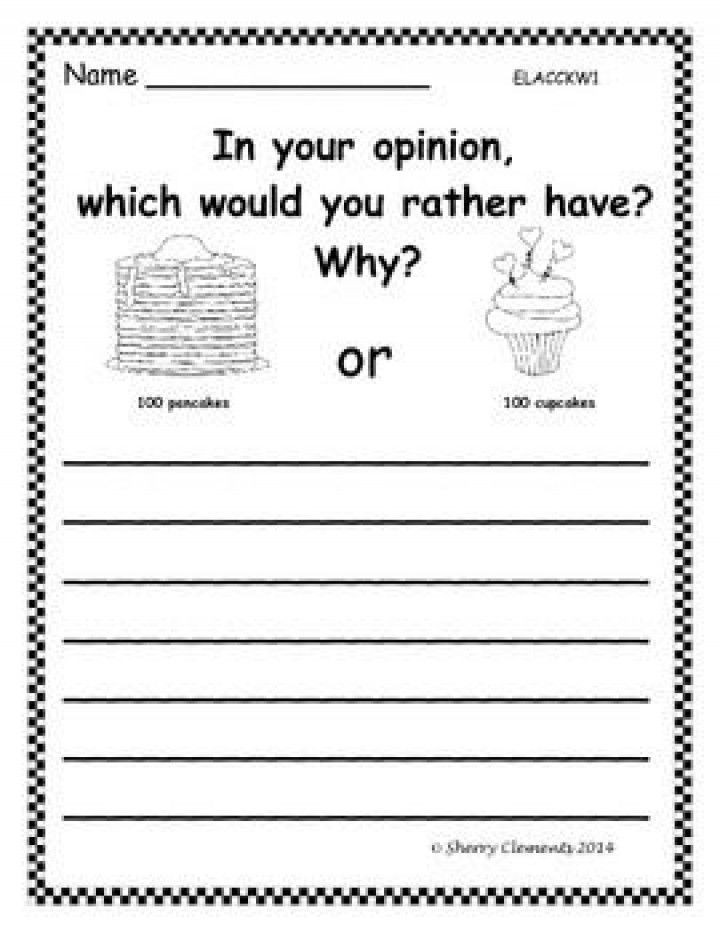 2nd Grade Writing Worksheets Opinion Writing 100th Day Of School – Kindergarten First