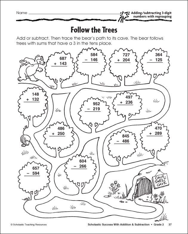 3 Digit Addition Coloring Worksheets 3 Digit Subtraction with Regrouping Coloring Sheet
