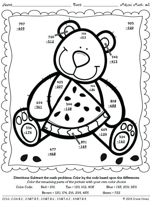 3 Digit Addition Coloring Worksheets Double Digit Addition Color by Number Addition and
