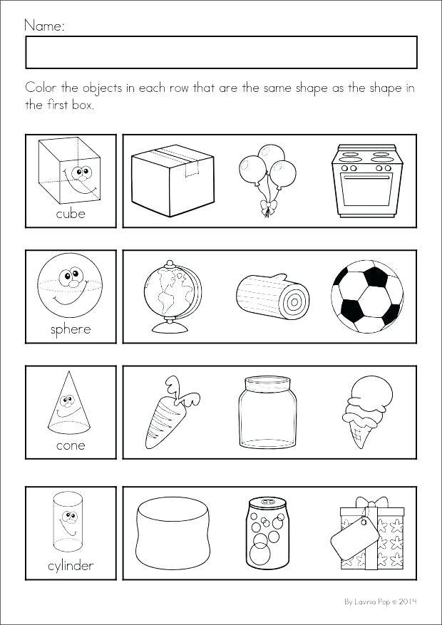 3d Shapes Worksheet for Kindergarten Shapes Worksheets Kindergarten Geometric Shapes Worksheets