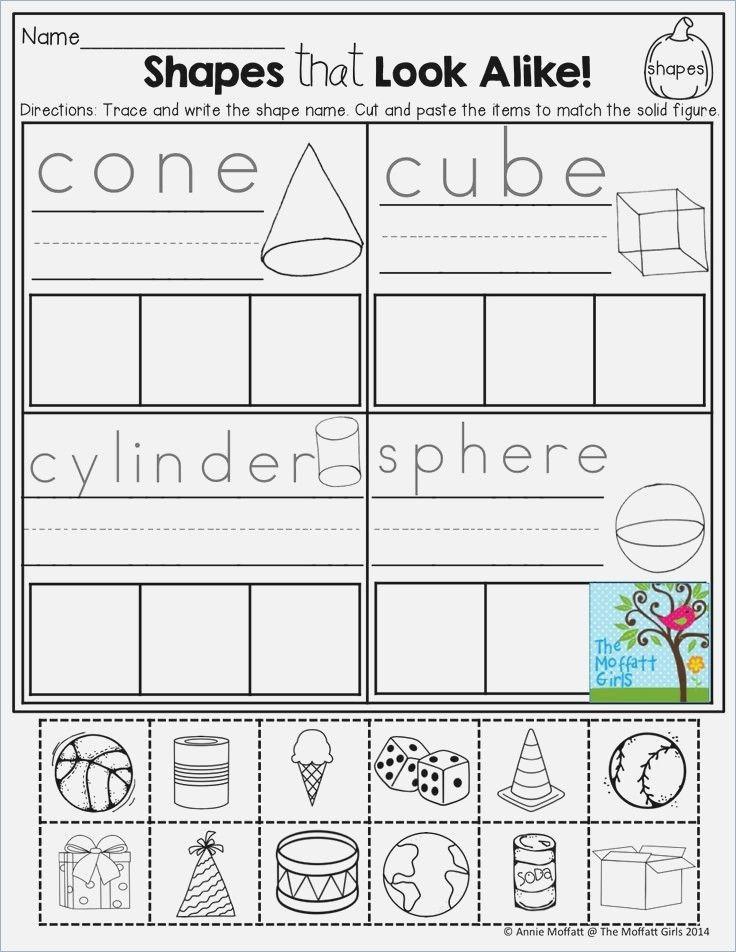 3d Shapes Worksheet for Kindergarten sort 2d and 3d Shapes Worksheet Education