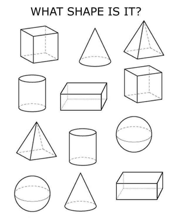 3d Shapes Worksheet Kindergarten 3d Shapes 2nd & 3rd Grades Bluebirdplanet Printables
