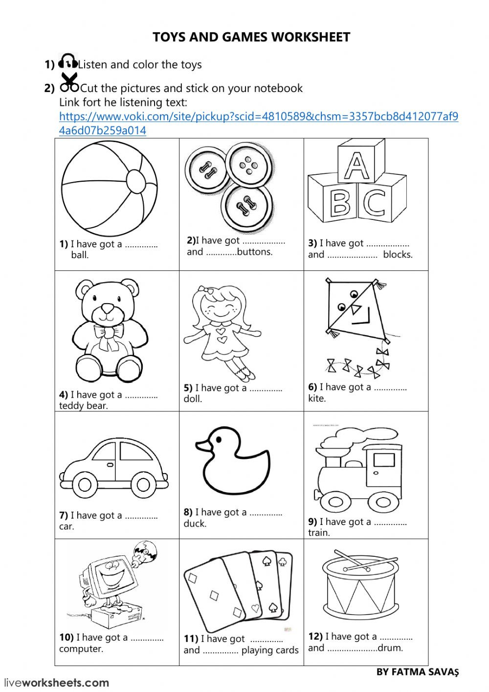 3rd Grade Art Worksheets 3rd Grade Unit 5 toys and Games Online Worksheet