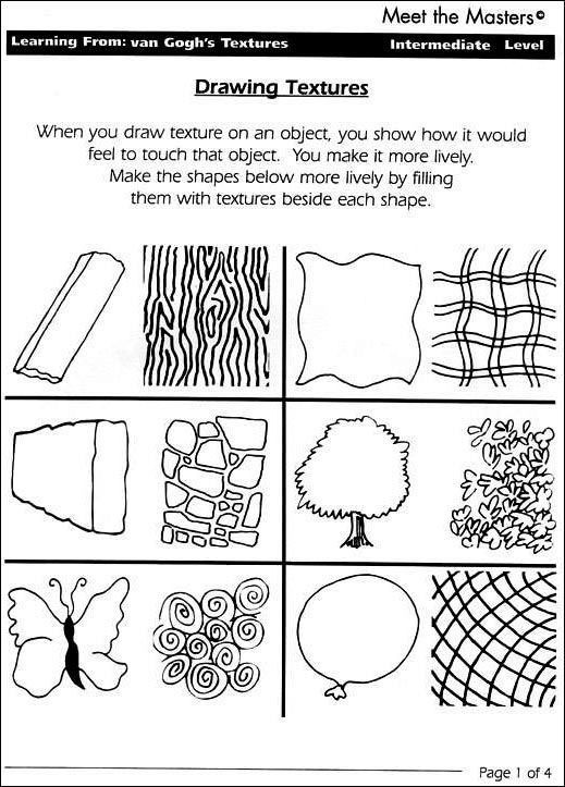 3rd Grade Art Worksheets Grade 1