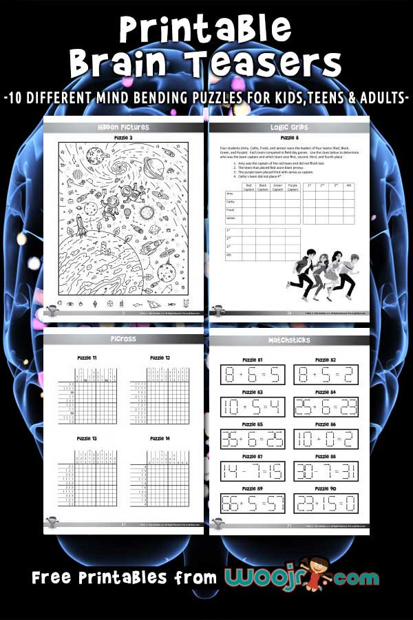3rd Grade Brain Teasers Worksheets Printable Brain Teasers for Kids