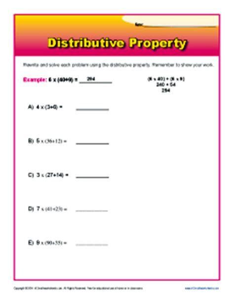 3rd Grade Distributive Property Worksheets Distributive Property Worksheets for 3rd Grade Post Date