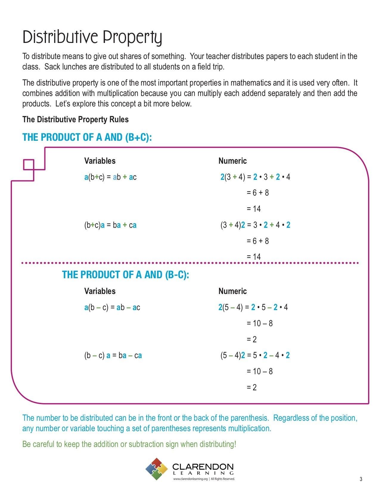 3rd Grade Distributive Property Worksheets Worksheets Sequencing Worksheets 3rd Grade Math Coloring