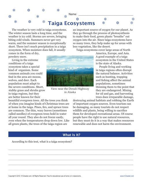3rd Grade Ecosystem Worksheets 6th Grade Reading Prehension Worksheets