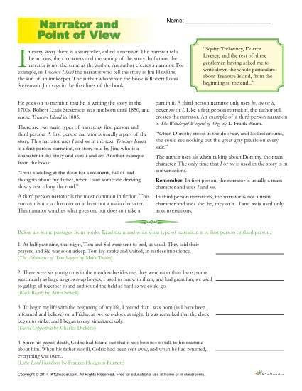3rd Grade Ecosystem Worksheets Point View Worksheets 4th Grade Worksheets Printable